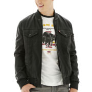 Levi's® Faux-Leather Varsity Bomber Jacket