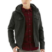 Levi's® Faux-Leather Commuter Trucker Jacket
