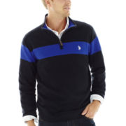 U.S. Polo Assn.® Striped Quarter-Zip Sweater