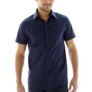 JF J. Ferrar® Short-Sleeve Military Shirt