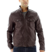 JF J. Ferrar® Faux-Leather Trucker Jacket