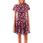 Olsenboye® Floral Print Crop Top or Skater Skirt