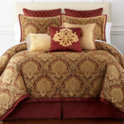 Royal Velvet® Jarvis 4-pc. Jacquard Comforter Set & Accessories