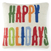 North Pole Trading Co. Happy Holidays Decorative Pillow
