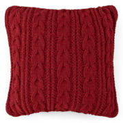 JCPenney Home™ Chunky Chenille Cable Decorative Pillow