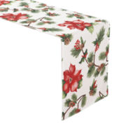 JCPenney Home™ Holiday Poinsettia Table Runner