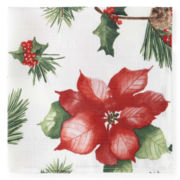JCPenney Home™ Holiday Poinsettia Set of 4 Napkins