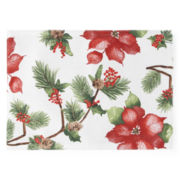 JCPenney Home™ Holiday Poinsettia Set of 4 Placemats