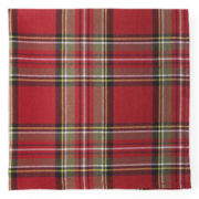 JCPenney Home™ Holiday Tartan Plaid Set of 4 Napkins