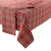 JCPenney Home™ Holiday Tartan Plaid Table Linen Collection