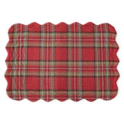 JCPenney Home™ Holiday Tartan Plaid Set of 4 Placemats