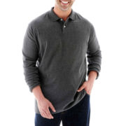 The Foundry Supply Co.™ Long-Sleeve Sueded Polo–Big & Tall