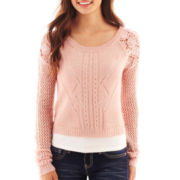 Arizona Cropped Lace Sweater