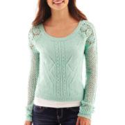 Arizona Cropped Lace Sweater