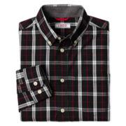 IZOD® Long-Sleeve Herringbone Dress Shirt – Boys S-XXL