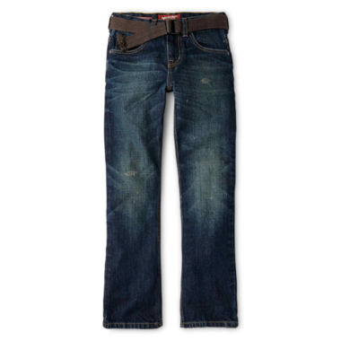 jcpenney.com | Arizona Belted Straight-Fit Fashion Jeans - Boys 6-18 Husky