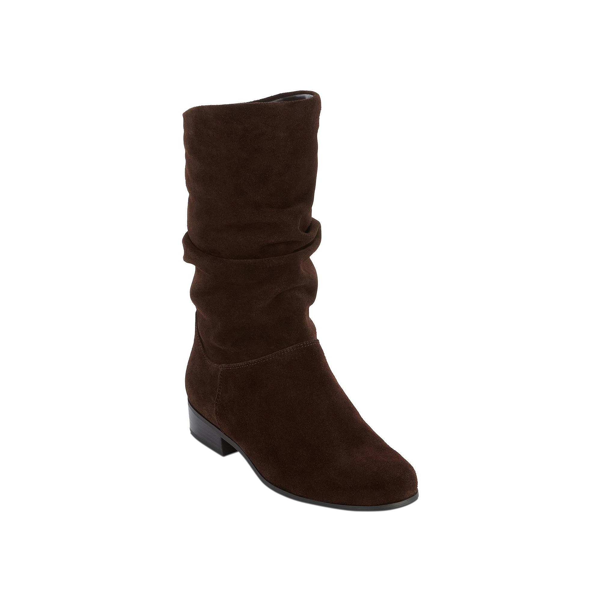 St. Johns Bay Jamie Womens Suede Slouch Boots in Wide Width plus size,  plus size fashion plus size appare