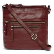 Great American Leatherworks Triple Compartment Crossbody Bag