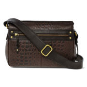 Great American Leatherworks Croco-Embossed East/West Crossbody Bag