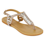 Mixit™ Jeweled T-Strap Sandals