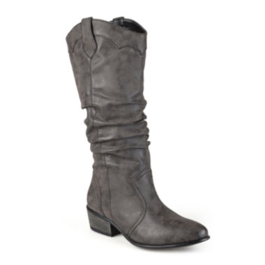 jcpenney.com | Journee Collection Drover Slouch Riding Boots - Wide Calf