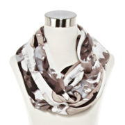 Blurred Floral Loop Scarf