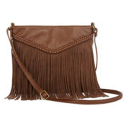 Arizona Center Panel Fringe Crossbody Bag