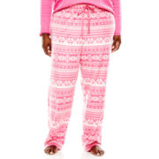 Sleep Chic Micro Fleece Sleep Pants - Plus