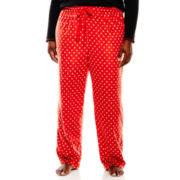 Sleep Chic Micro Fleece Sleep Pants - Plus