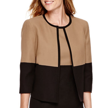 jcpenney.com | Black Label by Evan-Picone Crepe Colorblock Jacket