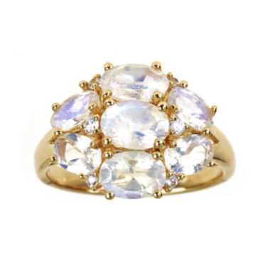 jcpenney.com | LIMITED QUANTITIES  Genuine Rainbow Moonstone and Lab-Created White Sapphire Ring