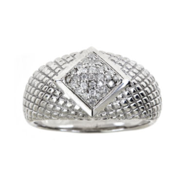 jcpenney.com | LIMITED QUANTITIES  1/4 CT. T.W. Diamond Sterling Silver Textured Ring