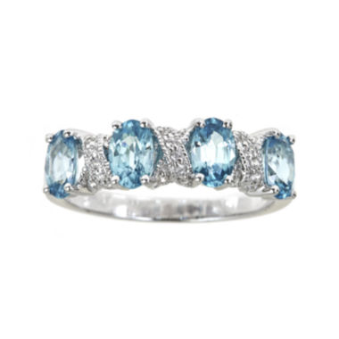 jcpenney.com | LIMITED QUANTITIES  Genuine Blue Zircon and Lab-Created White Sapphire Ring