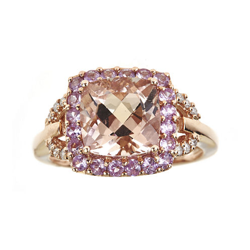 LIMITED QUANTITIES Genuine Morganite and Pink Sapphire Ring