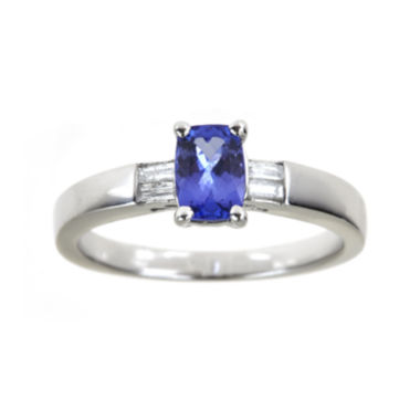 jcpenney.com | LIMITED QUANTITIES  Genuine Tanzanite and Diamond-Accent Sterling Silver Ring
