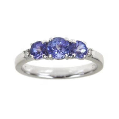 jcpenney.com | LIMITED QUANTITIES Genuine Tanzanite and Diamond-Accent 3-Stone Ring
