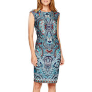 Liz Claiborne® Sleeveless Paisley Print Sheath Dress