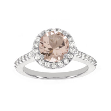 jcpenney.com | Blooming Bridal Genuine Morganite and Diamond 14K White Gold Bridal Ring