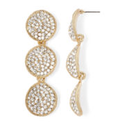 Natasha Crystal Gold-Tone Drop Earrings