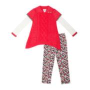 Little Lass Sweater and Leggings Set - Preschool Girls 4-6x