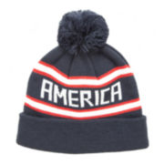 Arizona America Cuffed Beanie with Pom