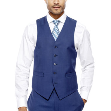 jcpenney.com | Collection by Michael Strahan Blue Herringbone Suit Vest - Classic Fit