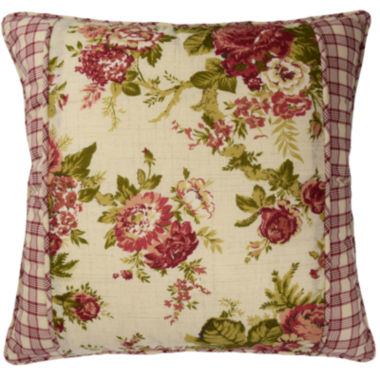"jcpenney.com | Waverly® Norfolk 18"" Floral Square Decorative Pillow"