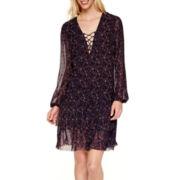 BELLE + SKY™ Long-Sleeve Peasant Dress