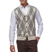 Haggar® Button-Front Sweater Vest