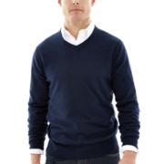 St. John's Bay® Solid Fine-Gauge Sweater