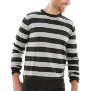 St. John's Bay® Striped Fine-Gauge Sweater