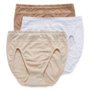 Olga® Suddenly Smooth 3-pk. High-Cut Panties - GT0873P