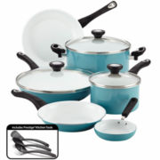 Farberware® purECOok 12-pc. Nonstick Ceramic Cookware Set includes  Prestige Tools®