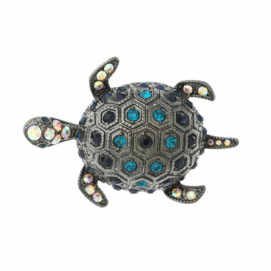 jcpenney.com | Monet® Hematite and Blue Crystal Turtle Pin
